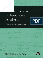 A First Course in Functional Analysis Theory and Applications