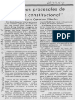 Reseña Normas procesales de rango constitucional Casarino