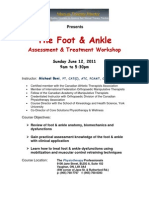 Ankle and Foot Registration 2011