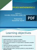 Applied Mathematics - Slide 2