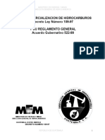 Ley y Reglamento de Comercializacion Hidrocarburos (Decreto Ley 109-97 y Acuerdo Gubernativo 522-99)