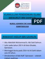 KURIKULUM PENDIDIKAN ISLAM MENURUT IBN SAHNUN