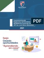 Convivencia Escolar y Reglamento del Estudiante SJOM 2021 - Modalidad No Presencial (virtual)