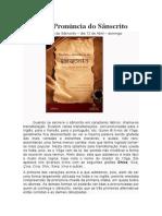 Escrita e Pronúncia do Sânscrito