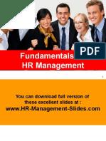 Principles of HR Management