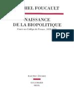 Michel Foucault-Naissance de La Biopolitique _ Cours Au Collège de France (1978-1979) -Seuil (2004)