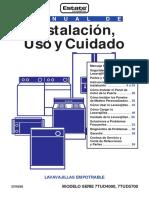 Guia Manual Lavaplatos - 3376828 (SP)