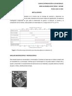 TALLER 6 - INTRODUCCIÓN A LOS MATERIALES