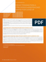 Principais medidas tomadas para a mudança dos processos assistenciais durante a pandemia por Covid-19