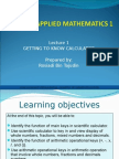 Applied Mathematics - Slide 1