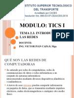 2.3.2. REDES DE COMPUTADORAS