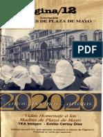 """Cartilla que acompaña el video documental de homenaje a las Madres de Plaza de Mayo """"20 años, 20 poemas, 20 artistas"""""""