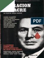 Operacion masAcre - folleto del video VHS de la película