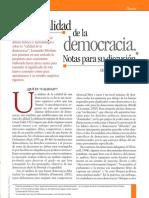 CALIDAD DEMOCRATICA