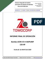 INFORME FINAL N° 0102-2020 - MINERA BARRICL MISQUICHILCA S.A. -  BOMBA LEON H-V3 - PLACA C-574 (28.05.2020) (1)
