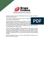 Comunicado Grupo Crónica fallecimiento Adrián Di Blasi