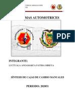 LUCTUALA FATIMA_CAJA DE CAMBIOS  MANUAL_SINTESIS