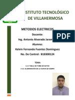 METODOS ELECTRICOS TEMA 3.5.3 Y 3.5.4  KELVIN FERNANDO FUENTES DOMINGUEZ B18300124