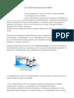 DESINTOXICACION PARA BAJAR DE PESO