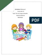 Montessori Lesson plan ece2503