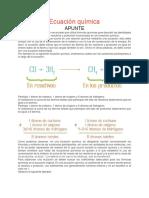 Qu Mica 3 a 3 B 3 C Ecuaci n Qu Mica APUNTE. PDF