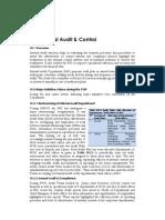 Chapter 10 Internal Audit & Control