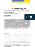Attribution and Self-Efficacy and Their Interrelationship in the Korean EFL Context