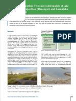 Lake Restoration Two successful models of lake restoration in Rajasthan (Mansagar) and Karnataka (Kaikondrahalli)