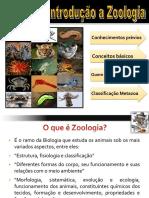 Zoo I Aula 2 Introducao a zoologia