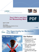 Top 5 Dos and Don'ts for Measuring Web 2 0