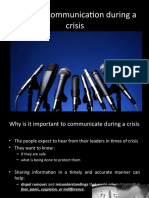 Communication during a crisis