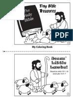 Jesus Little Lambs Coloringbk