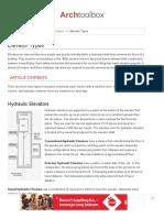 Elevator Types - archtoolbox.com
