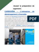 Comment réussir la préparation de son déménagement│CARBODEM – L'entreprise de déménagement à Grenoble
