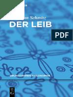 Hermann Schmitz Der Leib