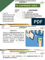 PRESENTACIÓN DECRETO SUPREMO 4260