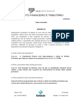 Anotações - Direito Financeiro e Tributário - Casos concretos