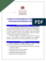 Curso de Matemática Financeira Aplicada Em Perícias Judiciais.