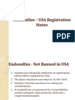 Endosulfan Not Banned in USA