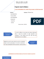 PPT DROIT DISSSOLUTION