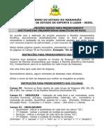 Instrucoes Gerais de Preenchimento de Planilha Orcamentaria Analiticas Em Excel