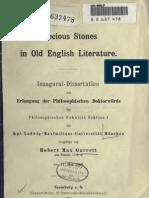 Precious Stones in Old English Literature.