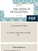 Translation in humanities_1st lecture_