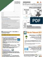 Programme Mars Avril 2011