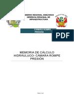 Memoria de cálculo Hidráulico -CÁMARA R. PRE.