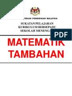 Matematik - KBSM - Matematik Tambahan
