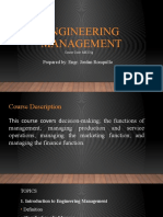 Engineeing Management Topics