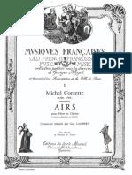 Airs Pour Flute Et Clavier Michel Corrette