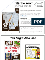 Write the Room rhyming activity