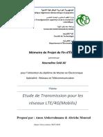 Etude de Transmission pour les réseaux LTE-4G